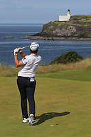 Ricardo Gouveia (POR) on the 4th during Round 1 of the Aberdeen Standard Investments Scottish Open 2019 at The Renaissance Club, North Berwick, Scotland on Thursday 11th July 2019.<br /> Picture:  Thos Caffrey / Golffile<br /> <br /> All photos usage must carry mandatory copyright credit (© Golffile | Thos Caffrey)