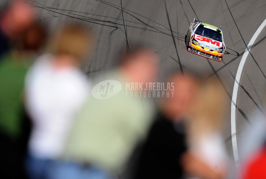 Mar. 1, 2009; Las Vegas, NV, USA; NASCAR Sprint Cup Series driver Greg Biffle during the Shelby 427 at Las Vegas Motor Speedway. Mandatory Credit: Mark J. Rebilas-