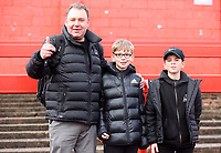 Fleetwood Town's Fans enjoying the pre-match atmosphere<br /> <br /> Photographer Rachel Holborn/CameraSport<br /> <br /> Emirates FA Cup First Round - Alfreton Town v Fleetwood Town - Sunday 11th November 2018 - North Street - Alfreton<br />  <br /> World Copyright &copy; 2018 CameraSport. All rights reserved. 43 Linden Ave. Countesthorpe. Leicester. England. LE8 5PG - Tel: +44 (0) 116 277 4147 - admin@camerasport.com - www.camerasport.com