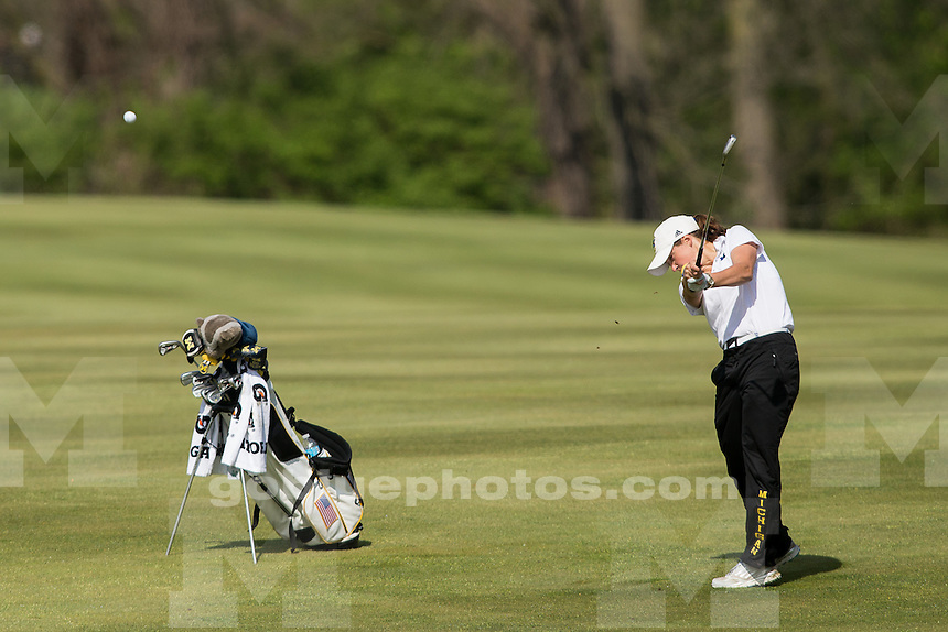 4/23/2016 Women's golf during round 2 of the Big Ten Championships at the Fort Resort Golf Course.
