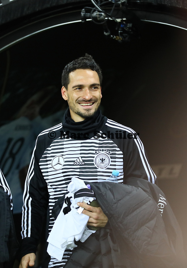 Mats Hummels (Deutschland Germany) - 15.11.2018: Deutschland vs. Russland, Red Bull Arena Leipzig, Freundschaftsspiel DISCLAIMER: DFB regulations prohibit any use of photographs as image sequences and/or quasi-video.