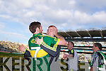 Killian Young celebrates with fans after defeating Donegal in the GAA All Ireland Senior Football Championship final.