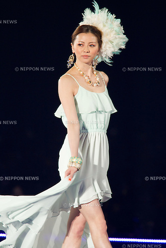 "March 3, 2012, Yokohama, Japan - Model Karina walks down the catwalk wearing the brand ""DURAS"" during the Tokyo Girls Collection fashion show. The theme of this 14th Tokyo Girls Collection is ""Sherbet Garden."" (Photo by Christopher Jue/Nippon News)"