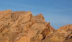 Upthrusting Navajo Sandstone forms the San Rafael Reef on the eastern edge of the San Rafael Swell monocline.  Near Green River, Utah.