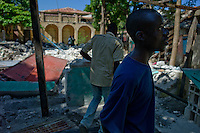 Grand Goave, Haiti, Jan 22 2010.A significant percentage of homes is totally or partially destroyed in this region south of Port au Prince, almost no house is safe enough to be lived in anymore..