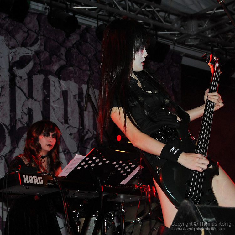 Chthonic Concert, Kaohsiung -- Bassist Doris Yeh of the Taiwanese Black Metal band Chthonic.