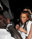 Lindsay Lohan Diddy Party LA 07/04/2009