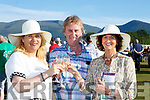 Angela and Den Joe O'Connor with Mary Musgrave celebrate a winner at the Killarney Races on Monday evening