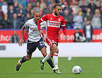 Middlesbrough's Lewis Baker and Bolton Wanderers' Darren Pratley <br /> <br /> Photographer Rachel Holborn/CameraSport<br /> <br /> The EFL Sky Bet Championship - Bolton Wanderers v Middlesbrough - Saturday 9th September 2017 - Macron Stadium - Bolton<br /> <br /> World Copyright &copy; 2017 CameraSport. All rights reserved. 43 Linden Ave. Countesthorpe. Leicester. England. LE8 5PG - Tel: +44 (0) 116 277 4147 - admin@camerasport.com - www.camerasport.com