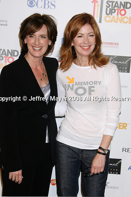 HOLLYWOOD, CA. - September 05: Disney-ABC's Anne Sweeney (L) and actress Dana Delany arrive at Stand Up For Cancer at The Kodak Theatre on September 5, 2008 in Hollywood, California.