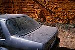 August 2004 - Spain, Andalusia. Coche abandonado.