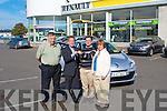 On Wednesday at Adams Car Sales and Garage Kieran Nolan from the Spa, Tralee accepted the keys  new Renaualt Mergan Car from Michael Geoghegan Director of Adams as he won it in the Credit Union Monthly draw also in pic are Kierans Mother and Father John and Rita Nolan......... ....................