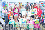 Katie Mai Moloney Killarney the overall winner of the Bird's Amusement's Carnival week art competition on Saturday with the other award winners front row l-r: Daniel Cremin, Grainne Byrne, Ruth Moynihan, Sinead Byrne, Eimear Gallivan. Back row: Ryan Morris, Molly Doyle, Katie Talbot, Debra O'Keeffe, Katie Mai Moloney, Jerry Switzer, Christine Carolan, Katie Buckley, Don Bird and Sheila Courtney