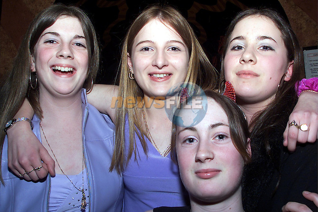Celine Hoey and Elaine McNally, Balbriggan, Eileen McCabe, Drogheda and Kelly Eglington, Coolock, pictured enjoying themselves in Kiss nightclub..Picture: Arthur Carron/Newsfile