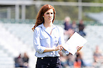 02 April 2016: Carolina sideline reporter Kelly Glendenning. The Carolina RailHawks hosted Minnesota United FC at WakeMed Stadium in Cary, North Carolina in a 2016 North American Soccer League Spring Season game. Carolina won the game 2-1.
