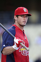 David Freese #23 of the St.Louis Cardinals before a game against the Los Angeles Dodgers at Dodger Stadium on May 18, 2012 in Los Angeles,California. Los Angeles defeated St.Louis 6-5.(Larry Goren/Four Seam Images)