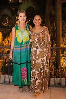 """De izquierda a derecha  la pintora mexicana Marcela Lobo, Nancy Reyes durante la exposicion de Marcela Lobo """"Cuerpos Vibrantes"""" en el museo MACAY de Merida Yucatan el 19 de Julio del 2013.<br /> Foto: Mauricio Palos /NortePhoto"""