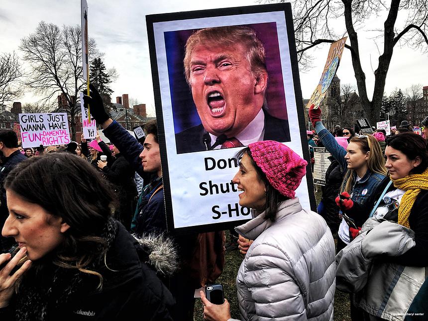 Women's March Boston in Cambridge Massachusetts January 20, 2018