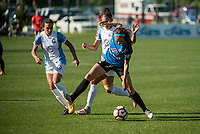 Kansas City, MO - Sunday May 07, 2017: Kristen Edmonds, Marta Vieira Da Silva, Shea Groom during a regular season National Women's Soccer League (NWSL) match between FC Kansas City and the Orlando Pride at Children's Mercy Victory Field.
