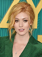 HOLLYWOOD, CA - AUGUST 07:  Katherine McNamara arrives at the Warner Bros. Pictures' 'Crazy Rich Asians' premiere at the TCL Chinese Theatre IMAX on August 7, 2018 in Hollywood, California.<br /> CAP/ROT/TM<br /> &copy;TM/ROT/Capital Pictures