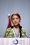 Greta Thunberg during the nineth day oif COP25 Chile-Madrid at IFEMA Madrid on 11 Dec 2019.(ALTERPHOTOS/Manu R.B.)