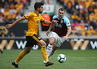 Burnley's Sam Vokes<br /> <br /> Photographer Rachel Holborn/CameraSport<br /> <br /> The Premier League - Wolverhampton Wanderers v Burnley - Sunday 16th September 2018 - Molineux - Wolverhampton<br /> <br /> World Copyright &copy; 2018 CameraSport. All rights reserved. 43 Linden Ave. Countesthorpe. Leicester. England. LE8 5PG - Tel: +44 (0) 116 277 4147 - admin@camerasport.com - www.camerasport.com