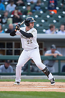 Matt Davidson (22) of the Charlotte Knights at bat against the Scranton\Wilkes-Barre RailRiders at BB&T BallPark on May 1, 2015 in Charlotte, North Carolina.  The RailRiders defeated the Knights 5-4.  (Brian Westerholt/Four Seam Images)