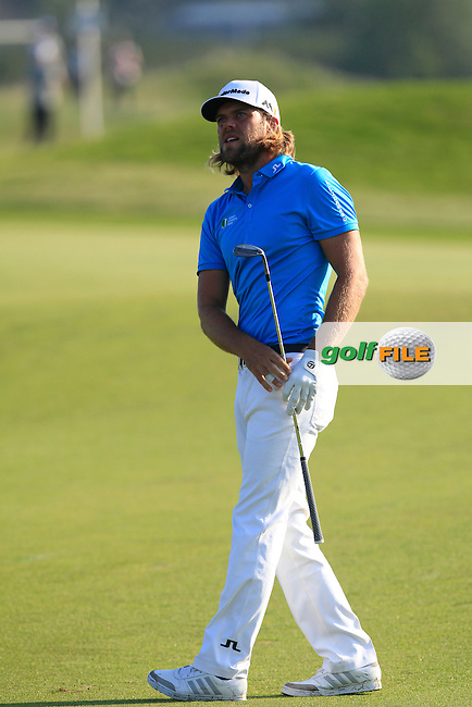 Johan Carlsson (SWE) on the 3rd fairway during Round 1 of the 2016 KLM Open at the Dutch Golf Club at Spijk in The Netherlands on Thursday 08/09/16.<br /> Picture: Thos Caffrey | Golffile