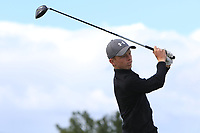 Charlie Cooley (Belvoir Park) on the 14th tee during the Final round in the Connacht U16 Boys Open 2018 at the Gort Golf Club, Gort, Galway, Ireland on Wednesday 8th August 2018.<br /> Picture: Thos Caffrey / Golffile