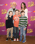John Rubinstein, Emily Padgett, Ryan Foust, Ryan Sell and Jake Ryan Flynn attend the ''Charlie and the Chocolate Factory' Cast Photo Call at the New 42nd Street Studios on February 21, 2017 in New York City.