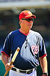 4 July 2010: Washington Nationals pitching coach Steve McCatty walks to the dugout prior to a game against the New York Mets at Nationals Park in Washington, DC. The Mets defeated the Nationals 9-5 in the fourth game and splitting their 4-game series. Mandatory Credit: Ed Wolfstein Photo