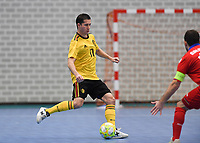 20200129 – Herentals , BELGIUM : Belgian Leo pictured during a futsal indoor soccer game between Armenia and  the Belgian Futsal Devils of Belgium on the first matchday in group B of the UEFA Futsal Euro 2022 Qualifying or preliminary round , Wednesday 29 th January 2020 at the Sport Vlaanderen sports hall in Herentals , Belgium . PHOTO SPORTPIX.BE | DAVID CATRY