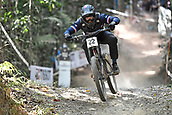 10th September 2017, Smithfield Forest, Cairns, Australia; UCI Mountain Bike World Championships; Rudy Cabirouc(FRA) riding for Unior Tools Team during the elite mens downhill race;