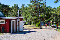 Sweden, Gotska Sandön national park. Camp site.