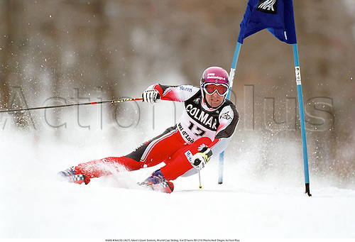 HANS KNAUSS (AUT), Men's Giant Slalom, World Cup Skiing, Val D'Isere 001210 Photo:Neil Tingle/Action Plus...2000.winter sport.winter sports.wintersport.wintersports.alpine.ski.skier.man