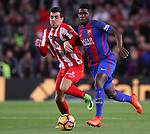 01.03.2017 Barcelona.La Liga game 25. Picture show Umtiti in action between FC Barcelona v Sporting at Camp Nou
