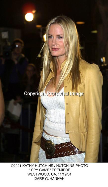 "©2001 KATHY HUTCHINS / HUTCHINS PHOTO."" SPY GAME"" PREMIERE.WESTWOOD, CA. 11/19/01.DARRYL HANNAH"
