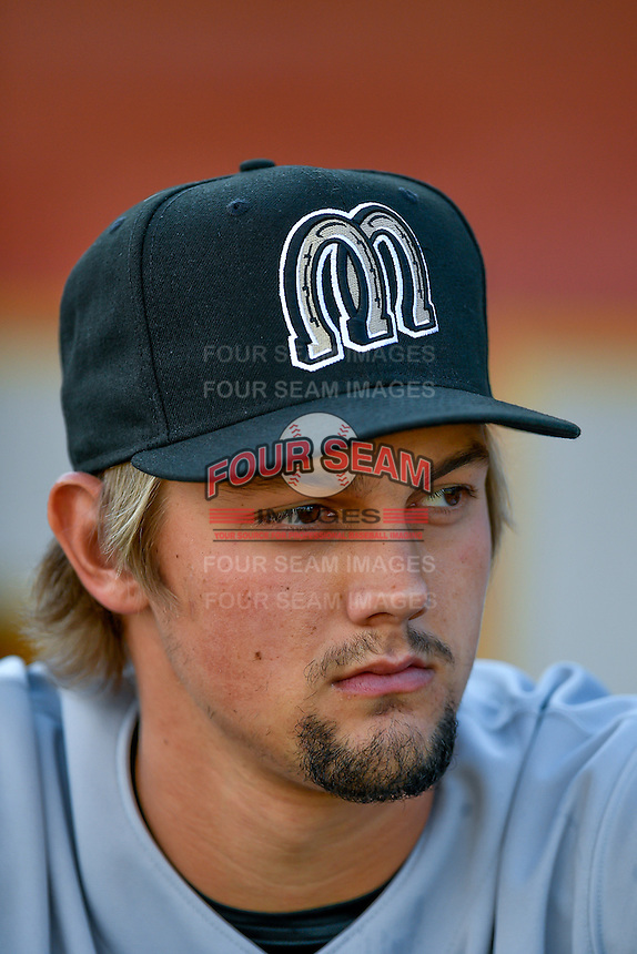 Scott Moss (59) of the Billings Mustangs before the game against the Orem Owlz in Pioneer League action at Home of the Owlz on July 25, 2016 in Orem, Utah. Orem defeated Billings 6-5. (Stephen Smith/Four Seam Images)