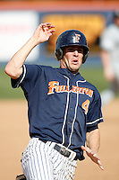 Clark Hardman of the Cal State Fullerton Titans during a game against the Rice Owls at Goodwin Field on March 4, 2007 in Fullerton, California. (Larry Goren/Four Seam Images)