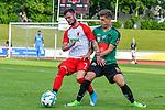 05.07.2017, Illerstadion, Kempten, GER, FSP, FC Augsburg vs FC Wacker Innsbruck, im Bild Marcel Heller (Augsburg #7), Florian Jamnig (Innsbruck #18)<br /> <br /> Foto &copy; nordphoto / Hafner