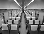 Pittsburgh PA - View of the inside of the new railroad passenger cars - 1964.