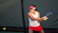 STANFORD, CA - January 26, 2011: Stacey Tan of Stanford women's tennis during her match against UC Davis' Nicole Koehly. Tan won 6-4, 6-1.