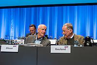 """5. Bundesparteitag der rechtspopulistischen Partei """"Alternative fuer Deutschland"""", AfD, in Stuttgart.<br /> Die Partei will auf dem Parteitag ein Parteiprogramm beschliessen.<br /> Im Bild vlnr.: Albrecht Glaser, AfD-Kandidat zur Wahl des Bundespraesidenten. Der stellvertretende AfD-Sprecher Glaser ist ehemaliges CDU-Mitglied und war als Stadtkaemmerer in Frankfurt verwickelt in umstrittene Fondgeschaefte und Alexander Gauland, stellvertretender Parteivorsitzender und Fraktionsvorsitzender der AfD im Brandenburgischen Landtag.<br /> 30.4.2016, Stuttgart<br /> Copyright: Christian-Ditsch.de<br /> [Inhaltsveraendernde Manipulation des Fotos nur nach ausdruecklicher Genehmigung des Fotografen. Vereinbarungen ueber Abtretung von Persoenlichkeitsrechten/Model Release der abgebildeten Person/Personen liegen nicht vor. NO MODEL RELEASE! Nur fuer Redaktionelle Zwecke. Don't publish without copyright Christian-Ditsch.de, Veroeffentlichung nur mit Fotografennennung, sowie gegen Honorar, MwSt. und Beleg. Konto: I N G - D i B a, IBAN DE58500105175400192269, BIC INGDDEFFXXX, Kontakt: post@christian-ditsch.de<br /> Bei der Bearbeitung der Dateiinformationen darf die Urheberkennzeichnung in den EXIF- und  IPTC-Daten nicht entfernt werden, diese sind in digitalen Medien nach §95c UrhG rechtlich geschuetzt. Der Urhebervermerk wird gemaess §13 UrhG verlangt.]"""