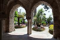 Italy, Campania, Ravello: Villa Rufolo gardens   Italien, Kampanien, Ravello: im Garten der Villa Rufolo
