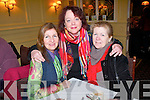 Catching up at the Recovery Haven coffee morning at at the Arbutus Hotel in Killarney on Friday last were:.L-R Pauline Russell, Vivienne O'Shea and Judy McCarthy.