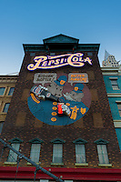 Las Vegas Pepsi Cola installation on the house wall