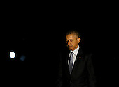 United States President Barack Obama returns to the White House, after campaigning for Democratic Presidential candidate Hillary Clinton in Columbus, Ohio, November 1, 2016, Washington, DC. <br /> Credit: Aude Guerrucci / Pool via CNP