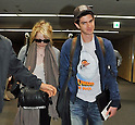 Emma Stone, Andrew Garfield, Jun 12, 2012 : Actress Emma Stone and actor Andrew Garfield arrive at Narita International Airport in Chiba prefecture, Japan on June 12, 2012. The real life couple signed autographs for fans upon arrival at Narita Airport. They are in Japan to promote their new film, The Amazing Spider-Man