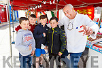 Patrick Russell, Shane Doherty, Paul O'Brien, Jason Doherty and Bauno Montane enjoying the Food Festival in Tralee on Sunday.