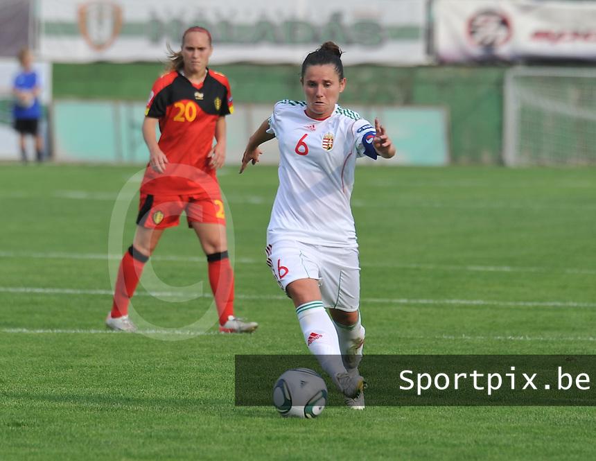 Hungary - Hongarije : UEFA Women's Euro Qualifying group stage (Group 3) - 20/06/2012 - 17:00 - szombathely  - : Hungary ( Hongarije ) - BELGIUM ( Belgie) :.Angela Smuczer.foto DAVID CATRY / JOKE VUYLSTEKE / Vrouwenteam.be.